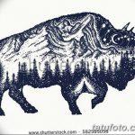 фото Эскизы тату лес от 29.09.2017 №006 - Sketches of a forest tattoo - tatufoto.com