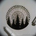 фото Эскизы тату лес от 29.09.2017 №009 - Sketches of a forest tattoo - tatufoto.com