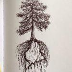 фото Эскизы тату лес от 29.09.2017 №010 - Sketches of a forest tattoo - tatufoto.com