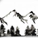 фото Эскизы тату лес от 29.09.2017 №011 - Sketches of a forest tattoo - tatufoto.com