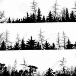 фото Эскизы тату лес от 29.09.2017 №013 - Sketches of a forest tattoo - tatufoto.com