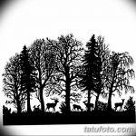 фото Эскизы тату лес от 29.09.2017 №014 - Sketches of a forest tattoo - tatufoto.com
