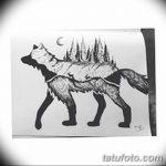 фото Эскизы тату лес от 29.09.2017 №016 - Sketches of a forest tattoo - tatufoto.com