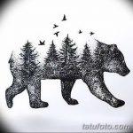 фото Эскизы тату лес от 29.09.2017 №019 - Sketches of a forest tattoo - tatufoto.com