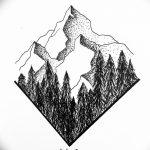 фото Эскизы тату лес от 29.09.2017 №023 - Sketches of a forest tattoo - tatufoto.com
