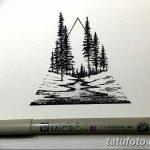 фото Эскизы тату лес от 29.09.2017 №025 - Sketches of a forest tattoo - tatufoto.com