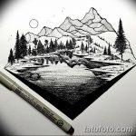 фото Эскизы тату лес от 29.09.2017 №026 - Sketches of a forest tattoo - tatufoto.com