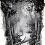 фото Эскизы тату лес от 29.09.2017 №027 - Sketches of a forest tattoo - tatufoto.com