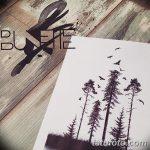 фото Эскизы тату лес от 29.09.2017 №034 - Sketches of a forest tattoo - tatufoto.com
