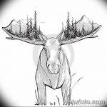 фото Эскизы тату лес от 29.09.2017 №035 - Sketches of a forest tattoo - tatufoto.com