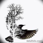 фото Эскизы тату лес от 29.09.2017 №036 - Sketches of a forest tattoo - tatufoto.com