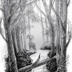 фото Эскизы тату лес от 29.09.2017 №038 - Sketches of a forest tattoo - tatufoto.com