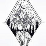 фото Эскизы тату лес от 29.09.2017 №040 - Sketches of a forest tattoo - tatufoto.com