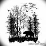 фото Эскизы тату лес от 29.09.2017 №043 - Sketches of a forest tattoo - tatufoto.com
