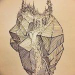 фото Эскизы тату лес от 29.09.2017 №045 - Sketches of a forest tattoo - tatufoto.com
