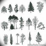 фото Эскизы тату лес от 29.09.2017 №052 - Sketches of a forest tattoo - tatufoto.com