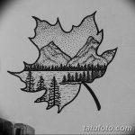 фото Эскизы тату лес от 29.09.2017 №053 - Sketches of a forest tattoo - tatufoto.com