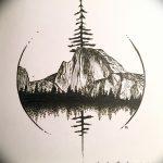 фото Эскизы тату лес от 29.09.2017 №054 - Sketches of a forest tattoo - tatufoto.com