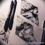 фото Эскизы тату лес от 29.09.2017 №058 - Sketches of a forest tattoo - tatufoto.com