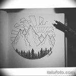 фото Эскизы тату лес от 29.09.2017 №059 - Sketches of a forest tattoo - tatufoto.com
