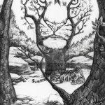 фото Эскизы тату лес от 29.09.2017 №060 - Sketches of a forest tattoo - tatufoto.com