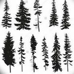 фото Эскизы тату лес от 29.09.2017 №062 - Sketches of a forest tattoo - tatufoto.com