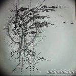 фото Эскизы тату лес от 29.09.2017 №067 - Sketches of a forest tattoo - tatufoto.com