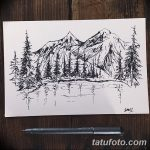 фото Эскизы тату лес от 29.09.2017 №069 - Sketches of a forest tattoo - tatufoto.com