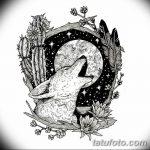 фото Эскизы тату лес от 29.09.2017 №071 - Sketches of a forest tattoo - tatufoto.com