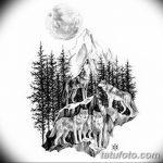 фото Эскизы тату лес от 29.09.2017 №075 - Sketches of a forest tattoo - tatufoto.com