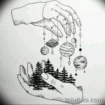 фото Эскизы тату лес от 29.09.2017 №077 - Sketches of a forest tattoo - tatufoto.com