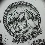 фото Эскизы тату лес от 29.09.2017 №078 - Sketches of a forest tattoo - tatufoto.com