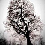 фото Эскизы тату лес от 29.09.2017 №079 - Sketches of a forest tattoo - tatufoto.com