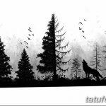 фото Эскизы тату лес от 29.09.2017 №081 - Sketches of a forest tattoo - tatufoto.com
