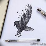 фото Эскизы тату лес от 29.09.2017 №082 - Sketches of a forest tattoo - tatufoto.com
