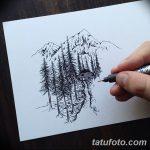 фото Эскизы тату лес от 29.09.2017 №085 - Sketches of a forest tattoo - tatufoto.com