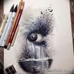 фото Эскизы тату лес от 29.09.2017 №087 - Sketches of a forest tattoo - tatufoto.com