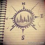 фото Эскизы тату лес от 29.09.2017 №089 - Sketches of a forest tattoo - tatufoto.com