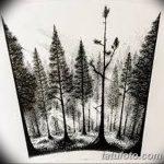 фото Эскизы тату лес от 29.09.2017 №090 - Sketches of a forest tattoo - tatufoto.com