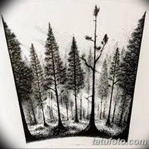 Тату леса во все руки эскизы