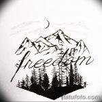 фото Эскизы тату лес от 29.09.2017 №091 - Sketches of a forest tattoo - tatufoto.com