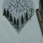 фото Эскизы тату лес от 29.09.2017 №092 - Sketches of a forest tattoo - tatufoto.com