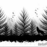 фото Эскизы тату лес от 29.09.2017 №094 - Sketches of a forest tattoo - tatufoto.com