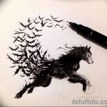 фото Эскизы тату летучая мышь от 27.09.2017 №001 - Sketches a bat tattoo - tatufoto.com