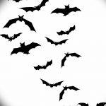 фото Эскизы тату летучая мышь от 27.09.2017 №002 - Sketches a bat tattoo - tatufoto.com