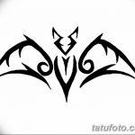 фото Эскизы тату летучая мышь от 27.09.2017 №003 - Sketches a bat tattoo - tatufoto.com