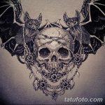 фото Эскизы тату летучая мышь от 27.09.2017 №004 - Sketches a bat tattoo - tatufoto.com