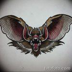 фото Эскизы тату летучая мышь от 27.09.2017 №005 - Sketches a bat tattoo - tatufoto.com