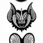 фото Эскизы тату летучая мышь от 27.09.2017 №010 - Sketches a bat tattoo - tatufoto.com