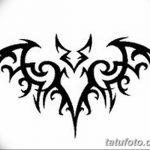 фото Эскизы тату летучая мышь от 27.09.2017 №011 - Sketches a bat tattoo - tatufoto.com